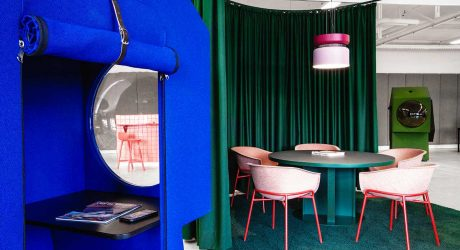 The Colorful LOQI Office Includes Futuristic Work Capsules