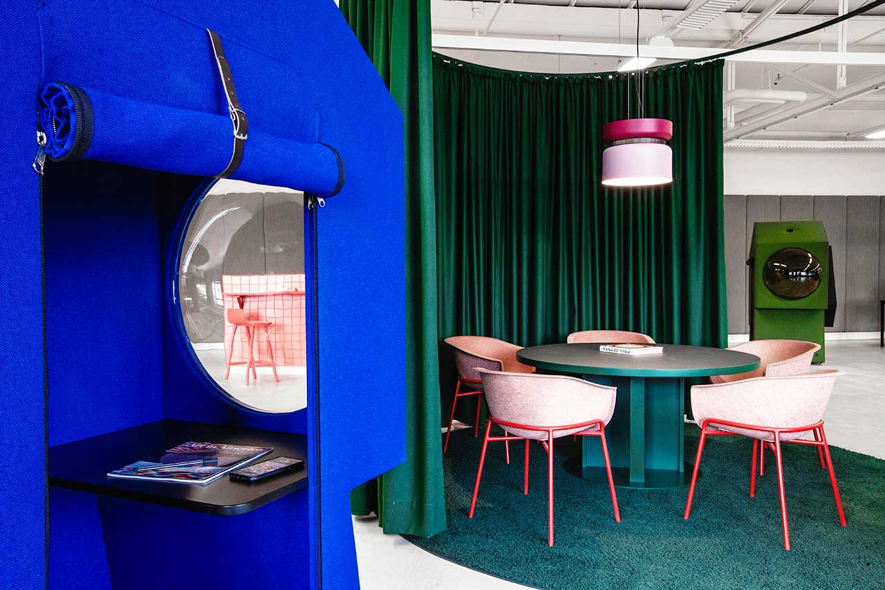 The Colourful LOQI Workplace Contains Futuristic Work Capsules