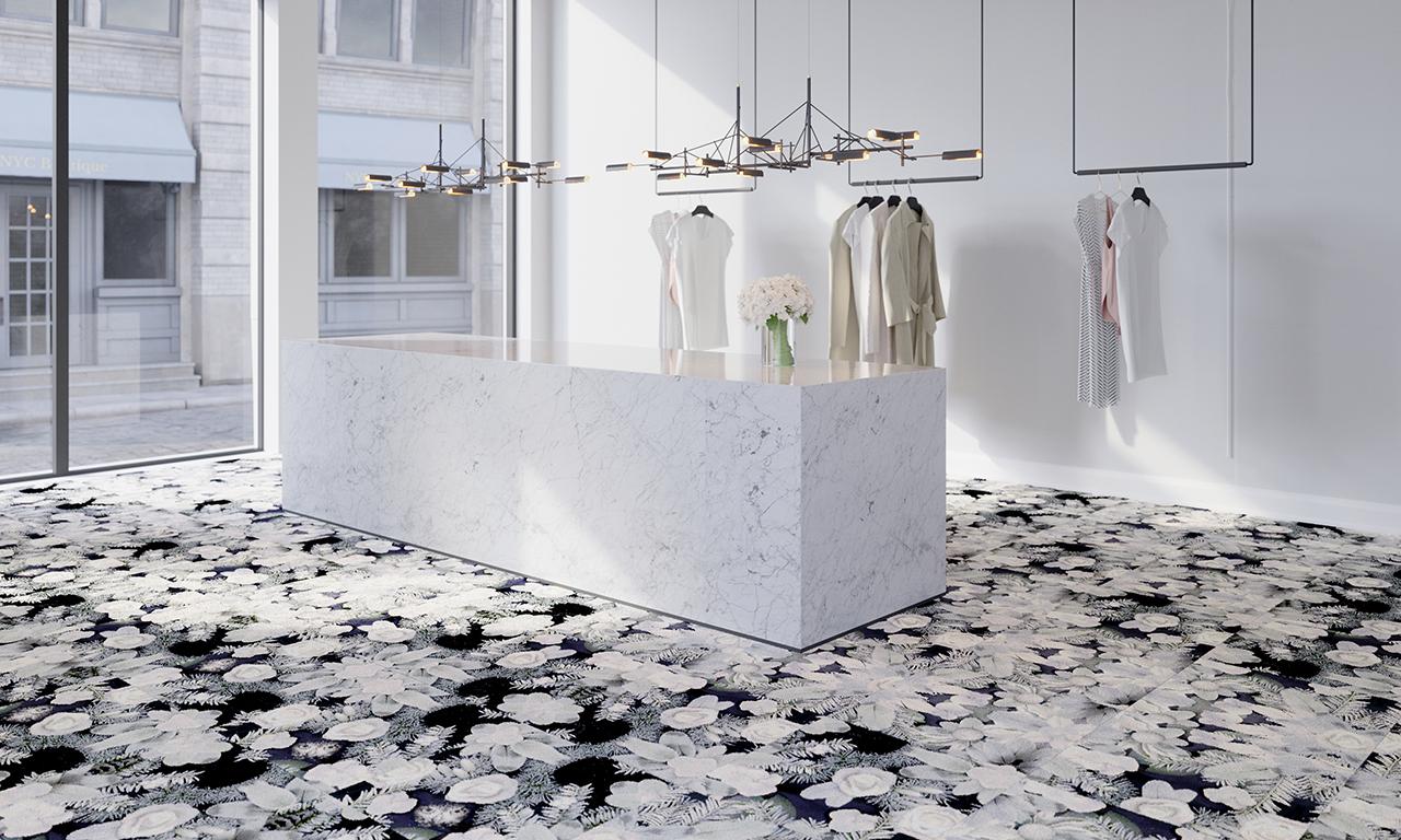 carpet tile pattern installed