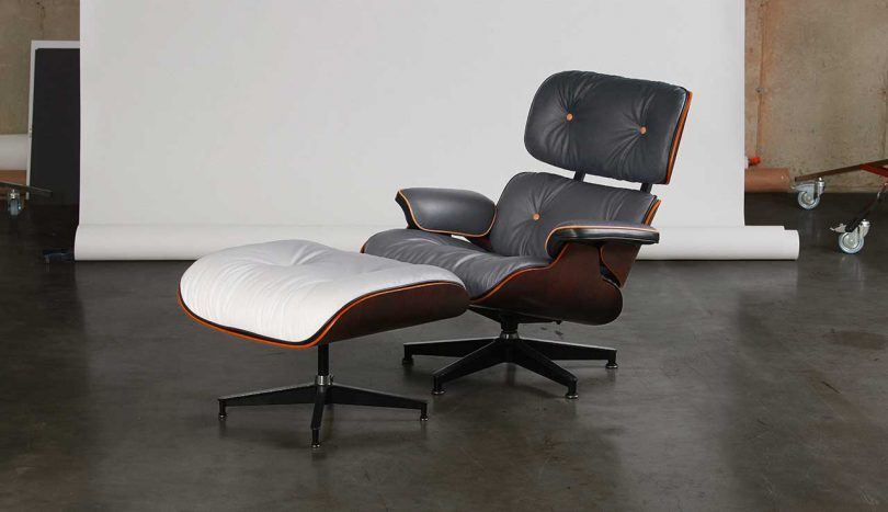 A Customized Eames Chair Inspired by NYC Asphalt + Morning Fog