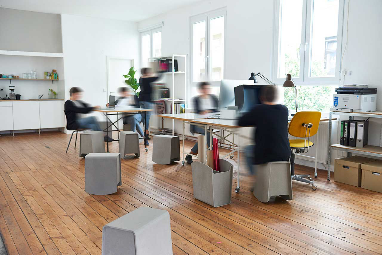 rocking stool in office environment