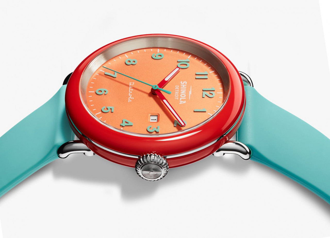 Shinola x Silly Putty Wristwatch Stretches Into a Colorful Expression of Time
