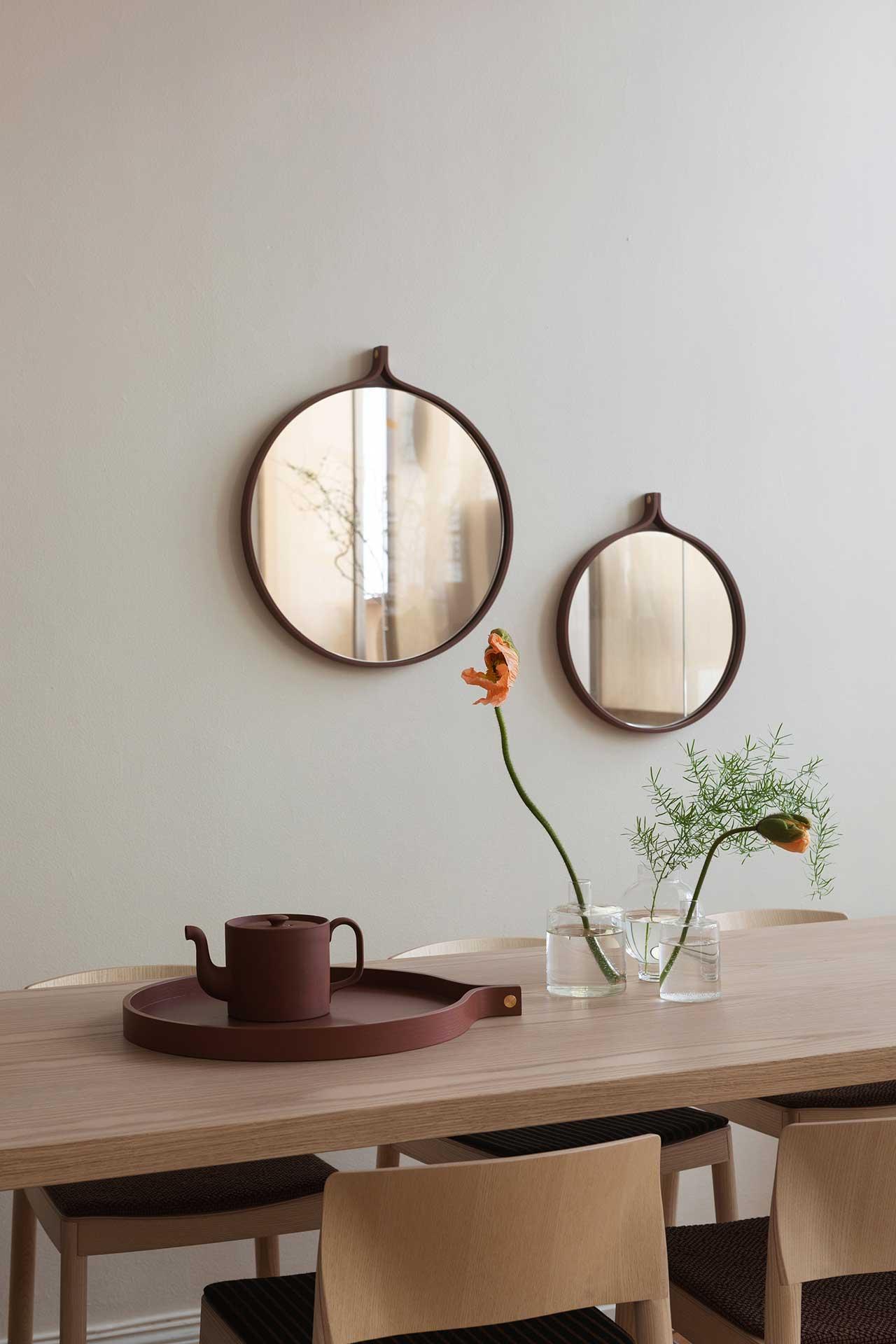 mirrors and tray