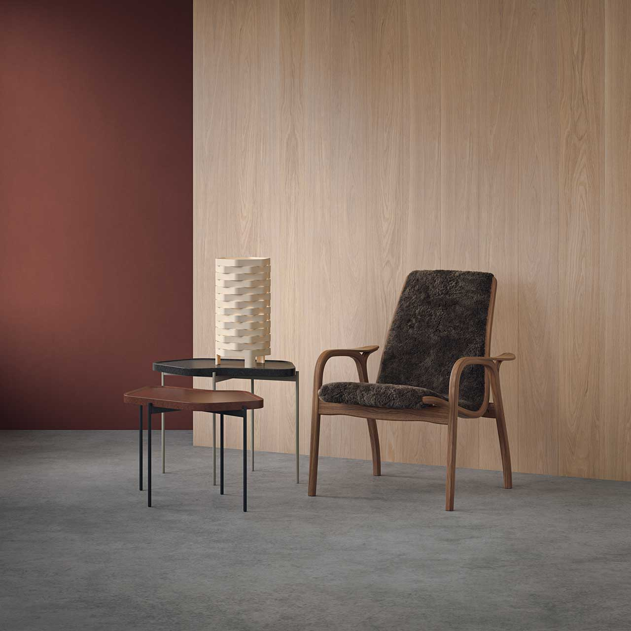 armchair and end tables