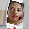 smartphone screen with woman