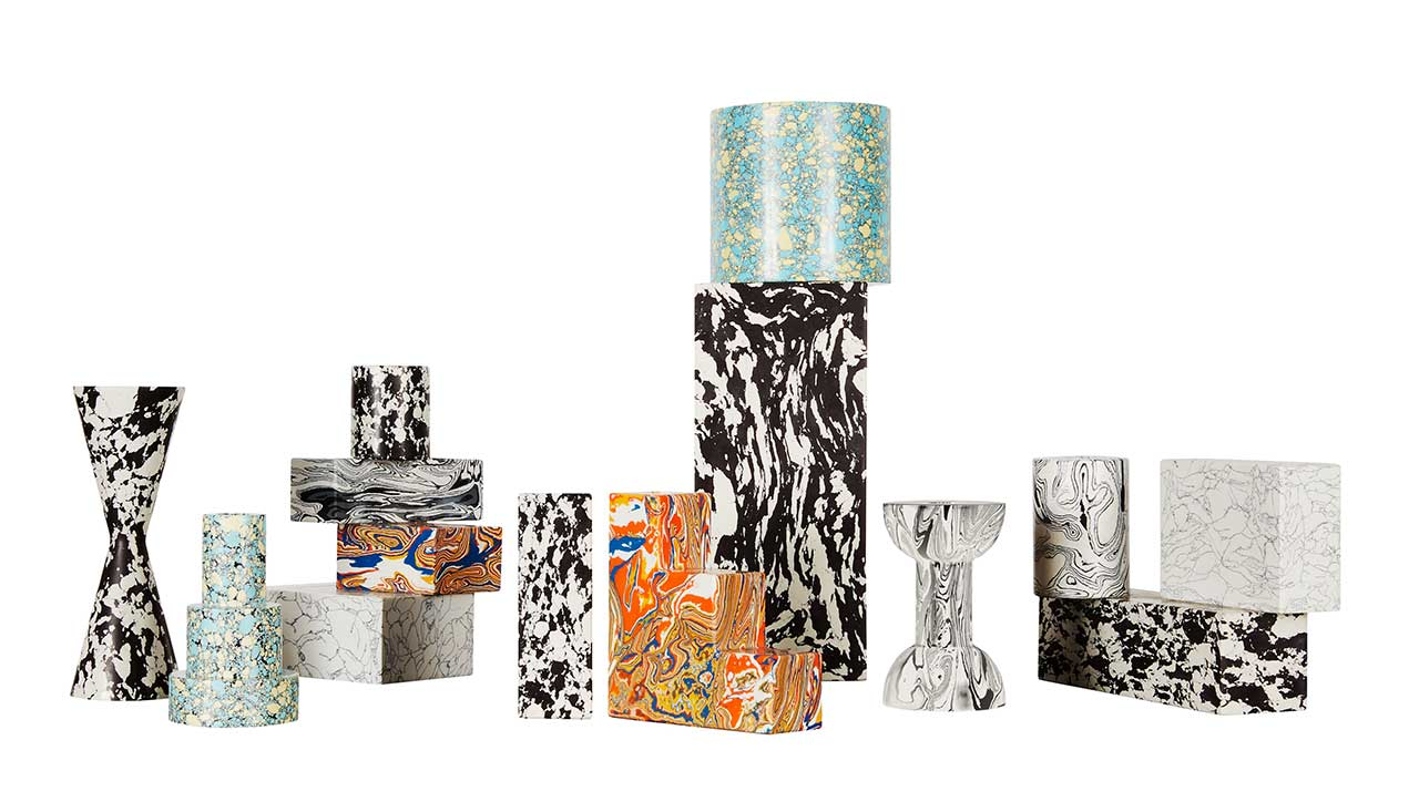 Tom Dixon's Swirl Collection of Marbled, Geometric Forms