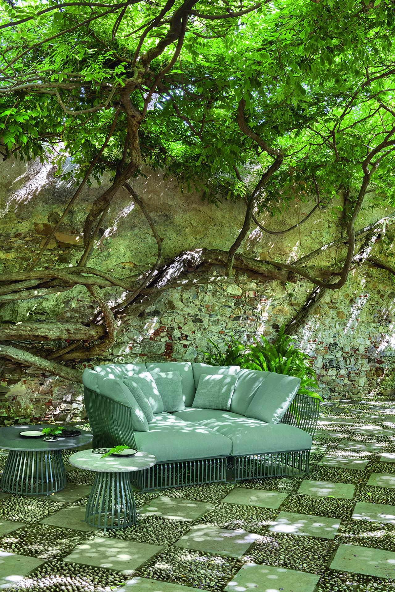 outdoor sofa outside