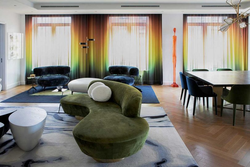 A NYC Apartment Reimagined With Bold Colors Inspired by a Painting