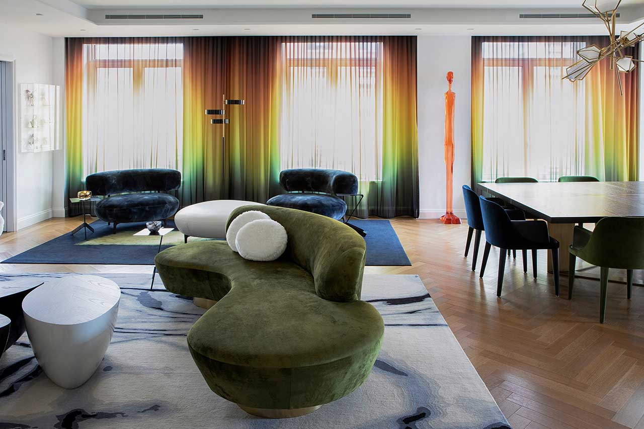 A NYC House Reimagined With Daring Colours Impressed by a Portray