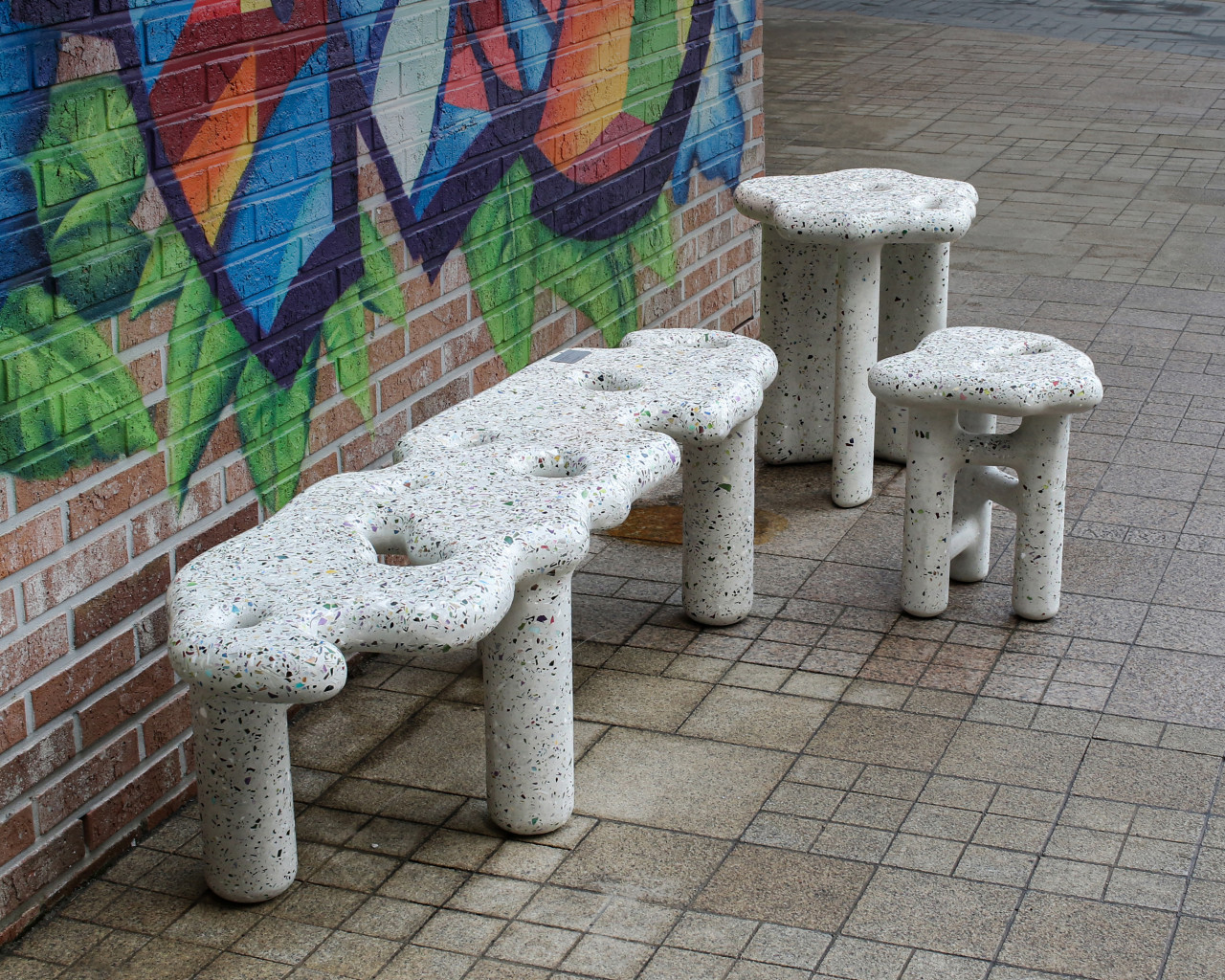 Studio HAK's Terrazzo-Like Debris Series Is Made From Plastic and Concrete