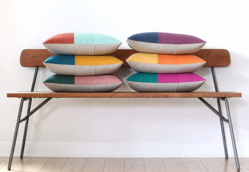 Modernist Pillows That Bring Color, Pattern + Texture Into the Home