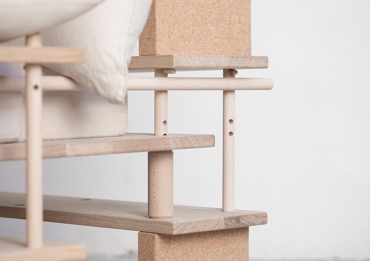 wooden furniture detail