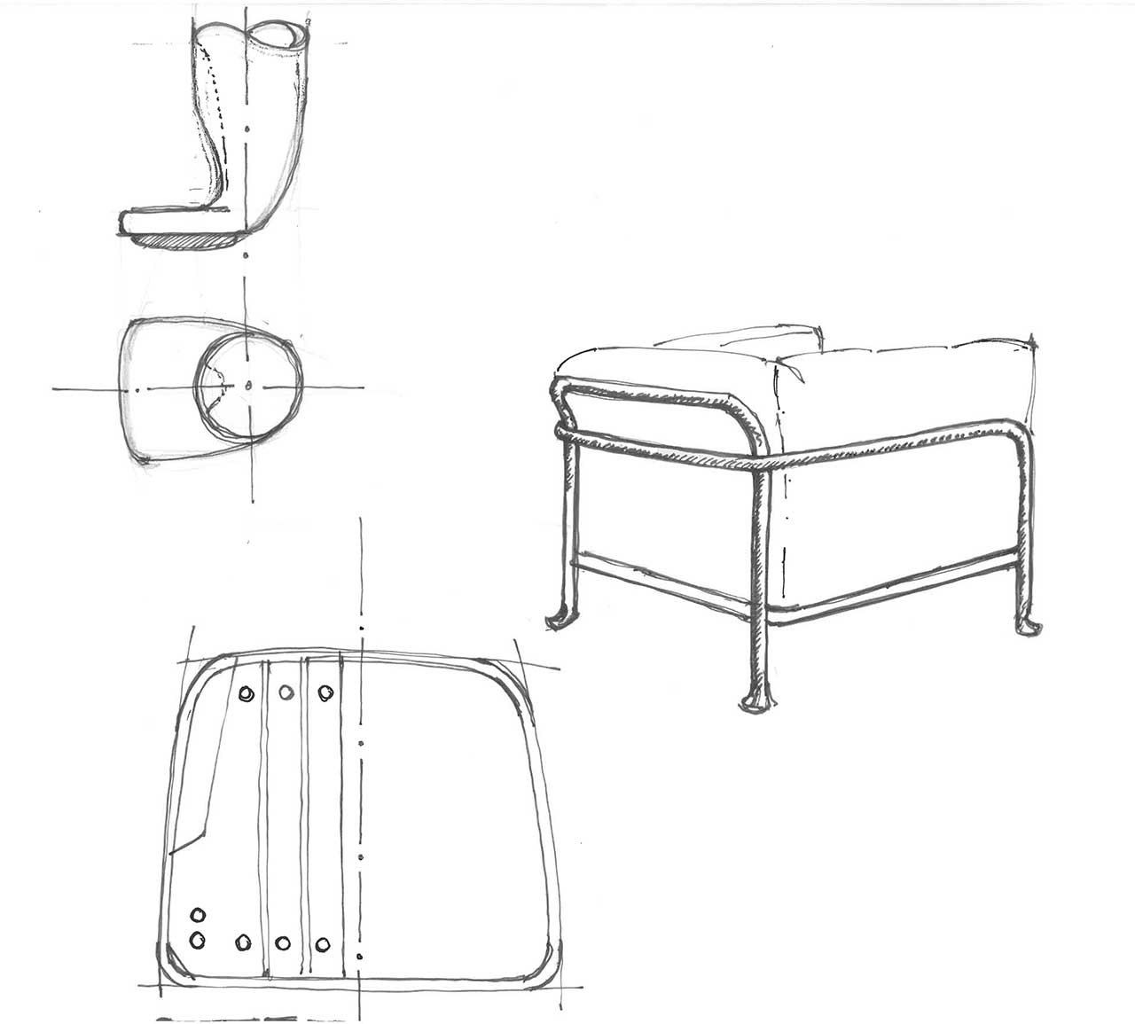 outdoor furniture sketches