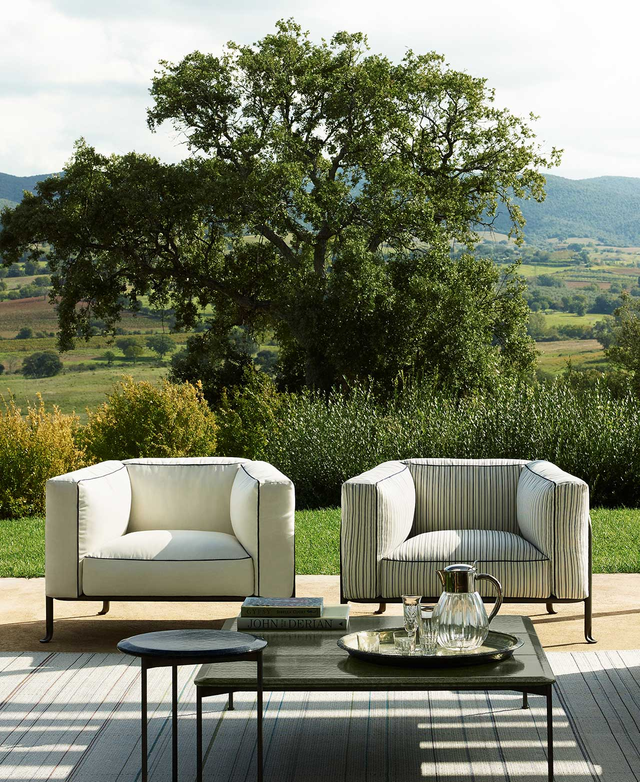 two chairs outdoors