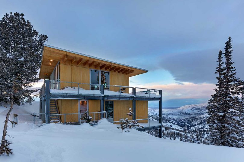 Schemata Architects Designs a Modern Chalet on Powder Mountain in Utah