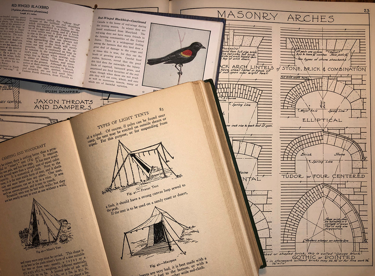 old books with illustrations