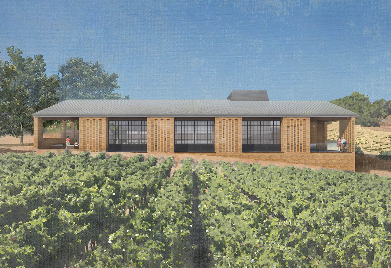 architectural rendering of tasting room