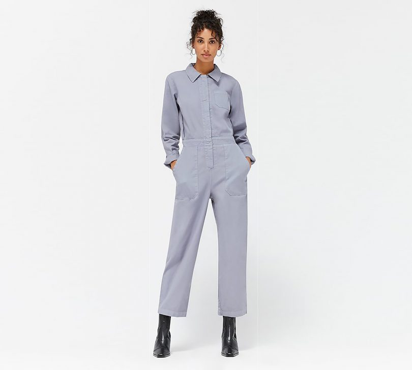 model wearing boilersuit