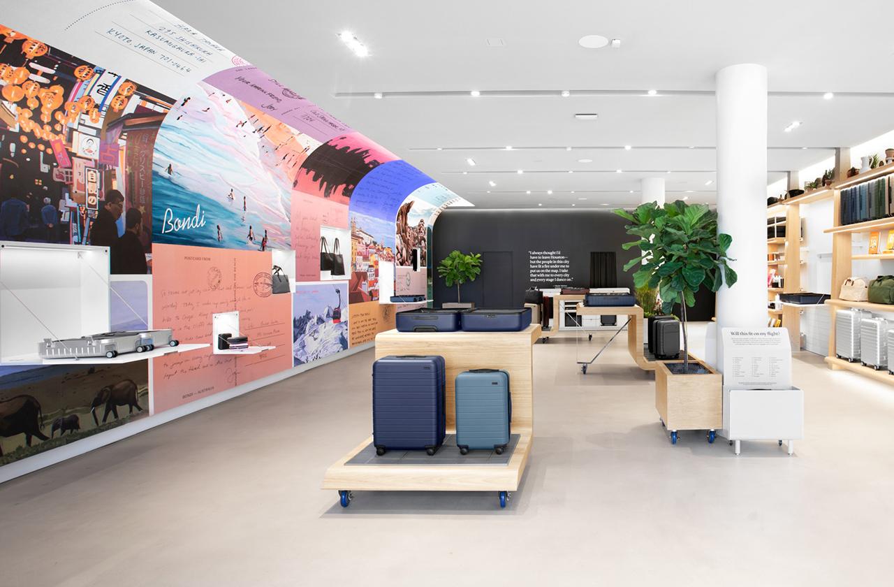 Away Luggage retail store interior