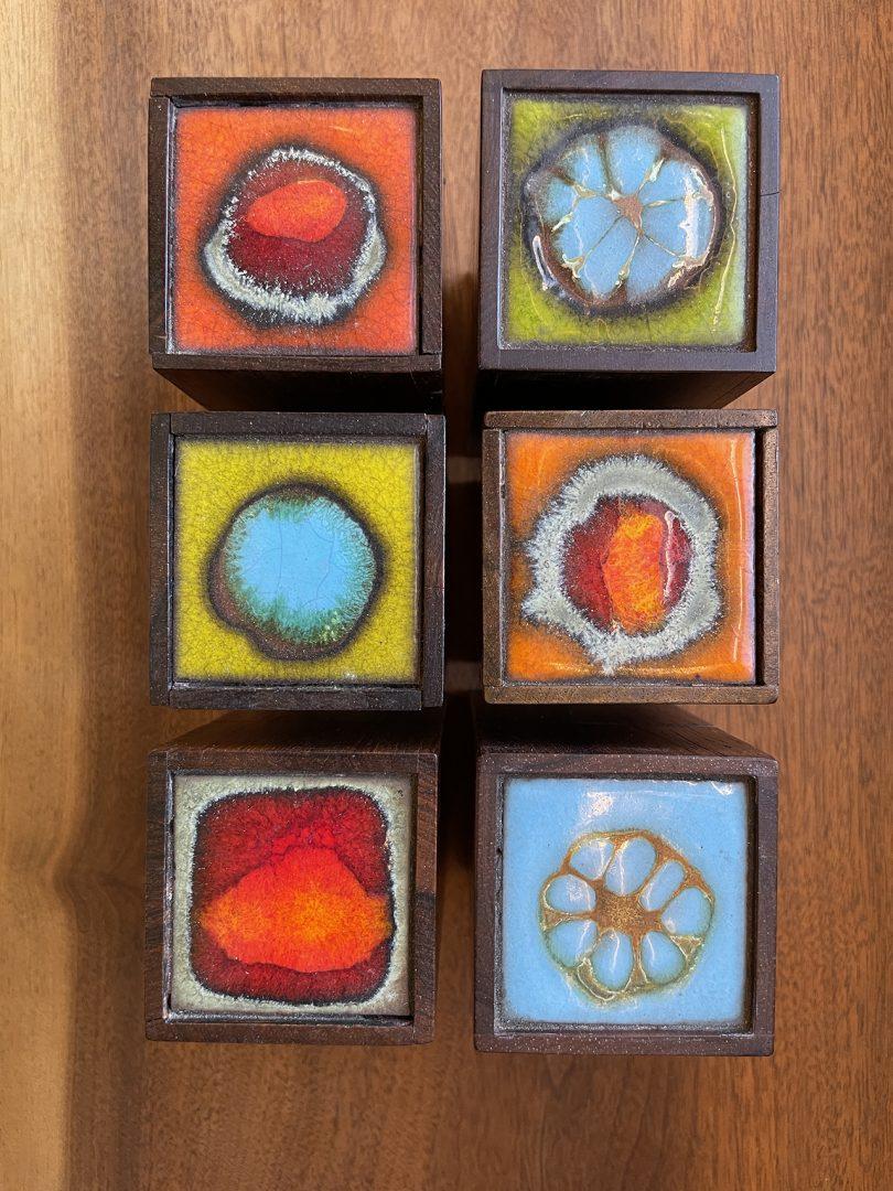 vintage enamel boxes