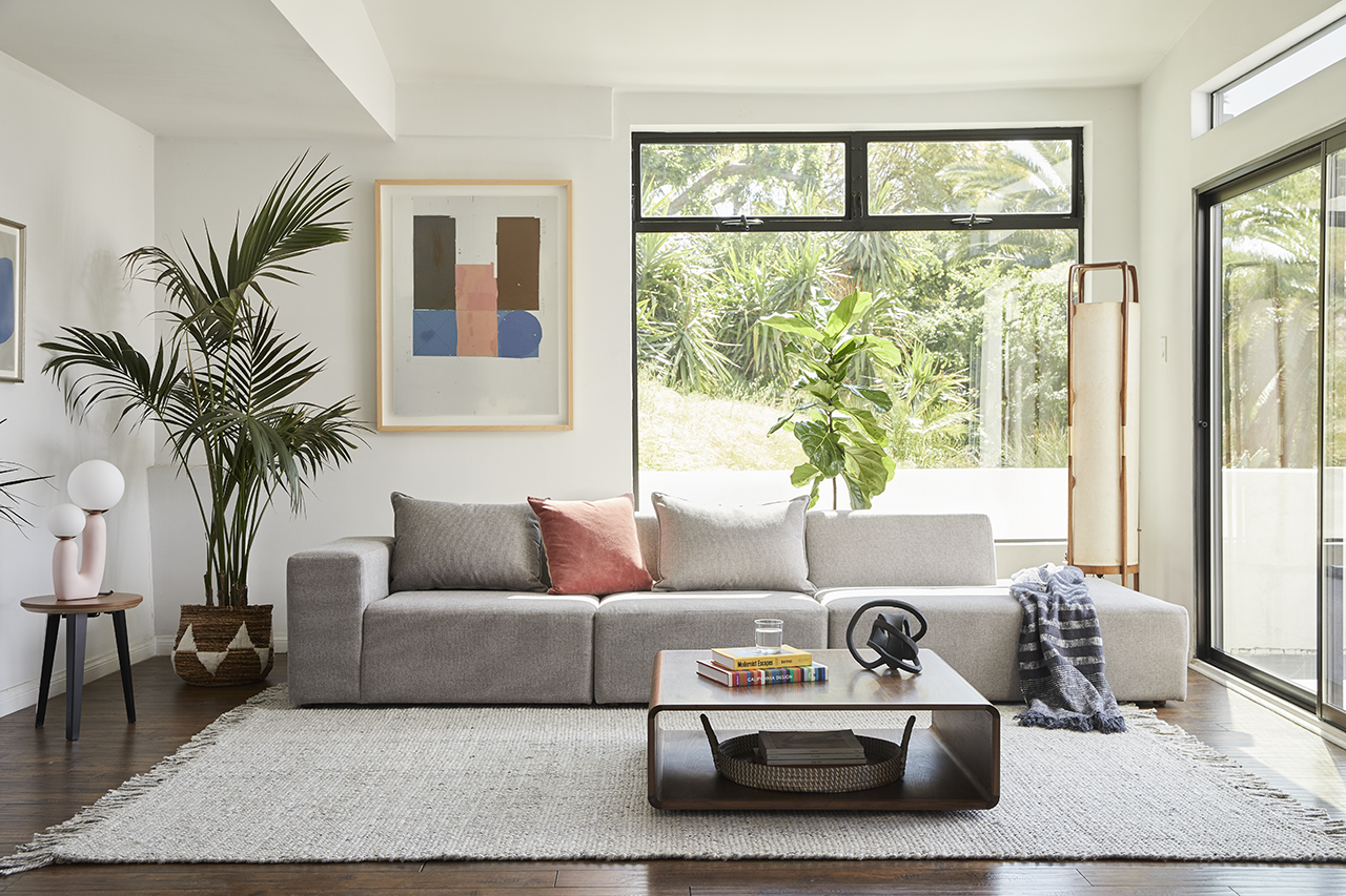 sectional sofa in living space