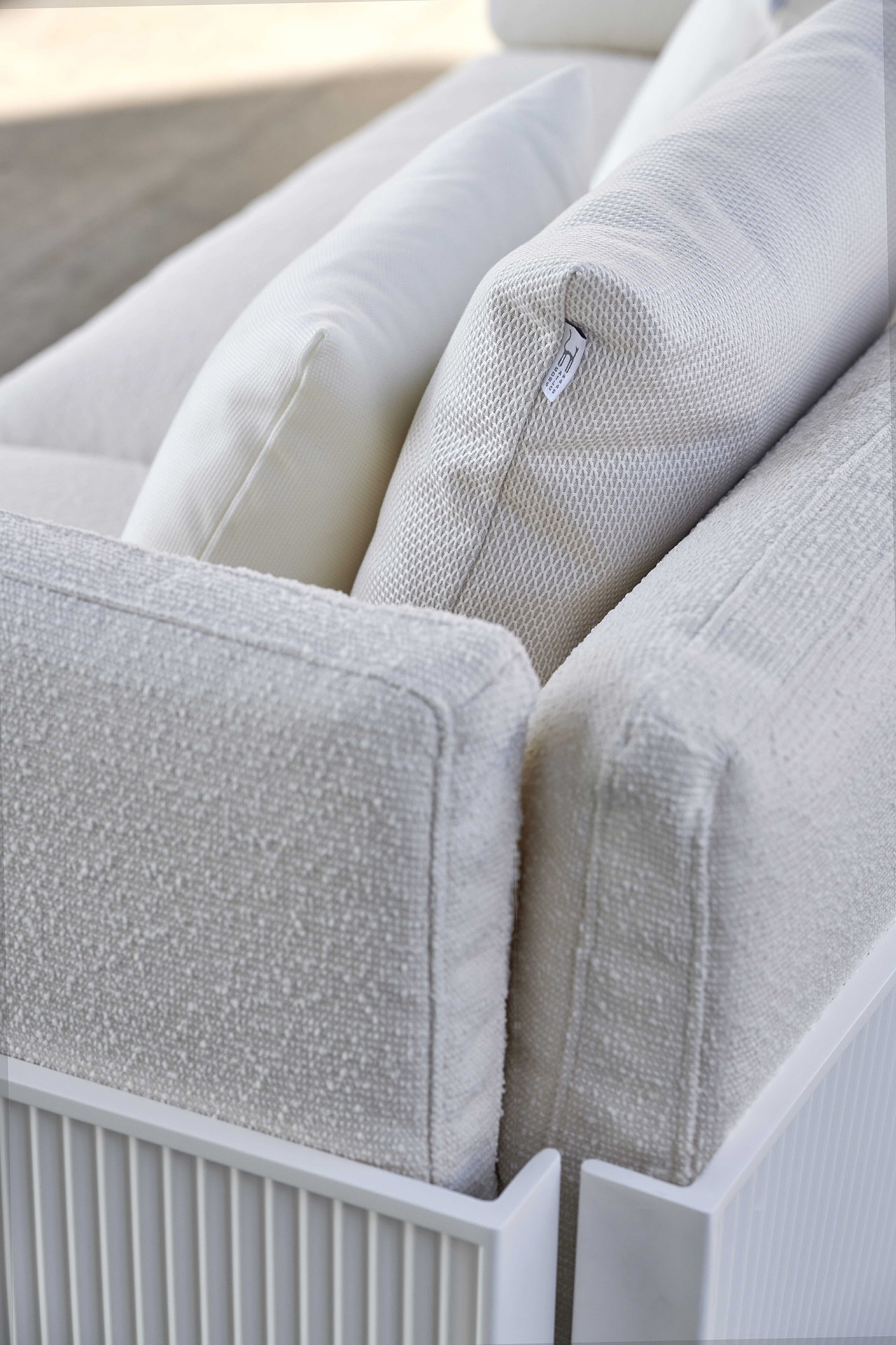 outdoor sofa detail