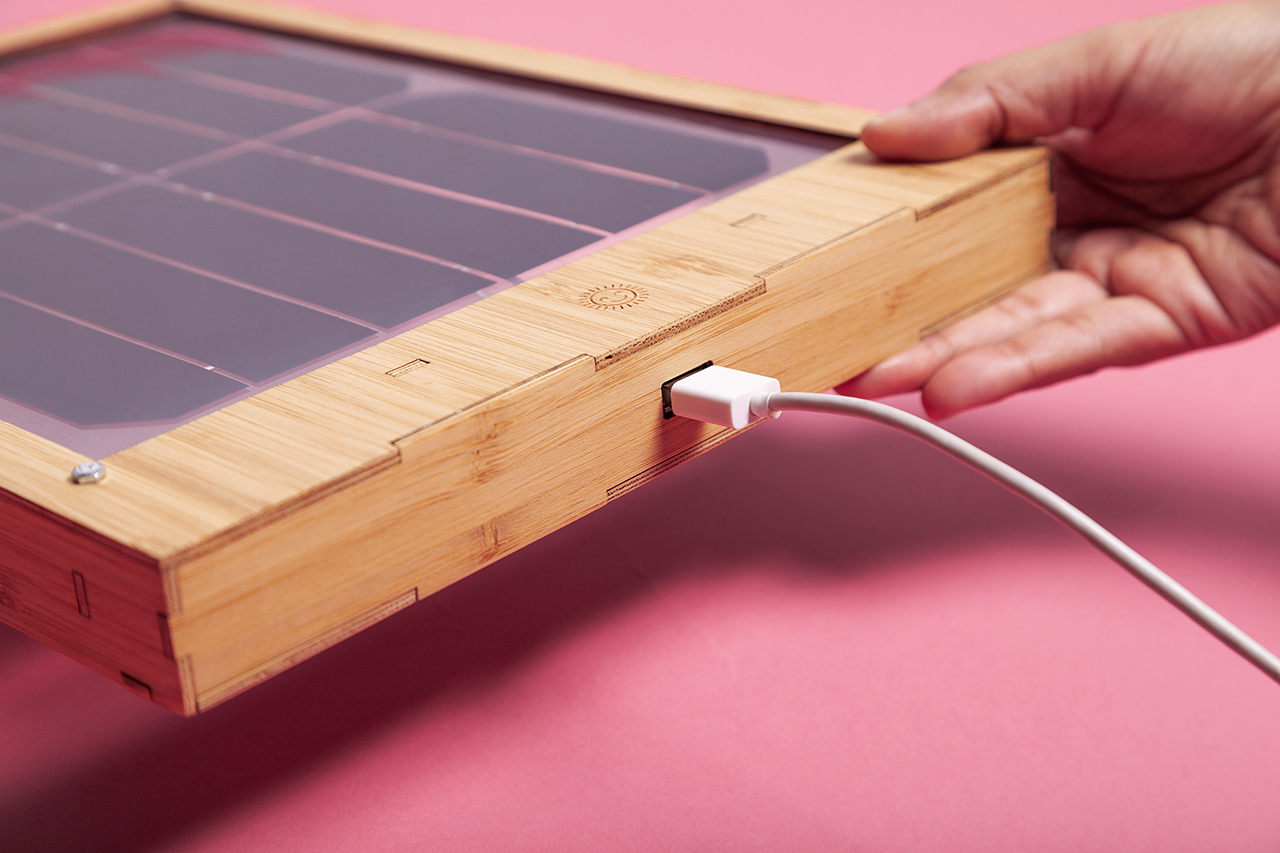 detail of window solar charger