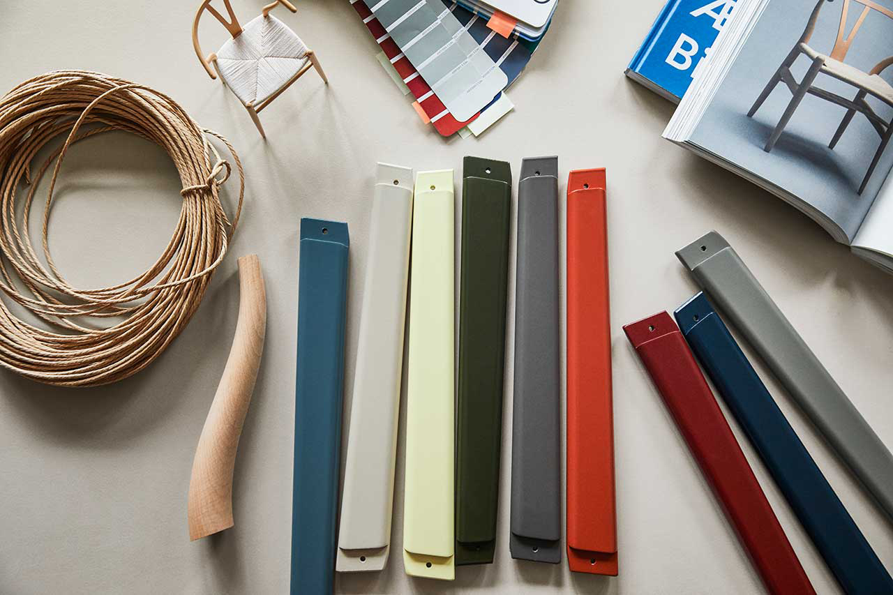 color swatches on desk