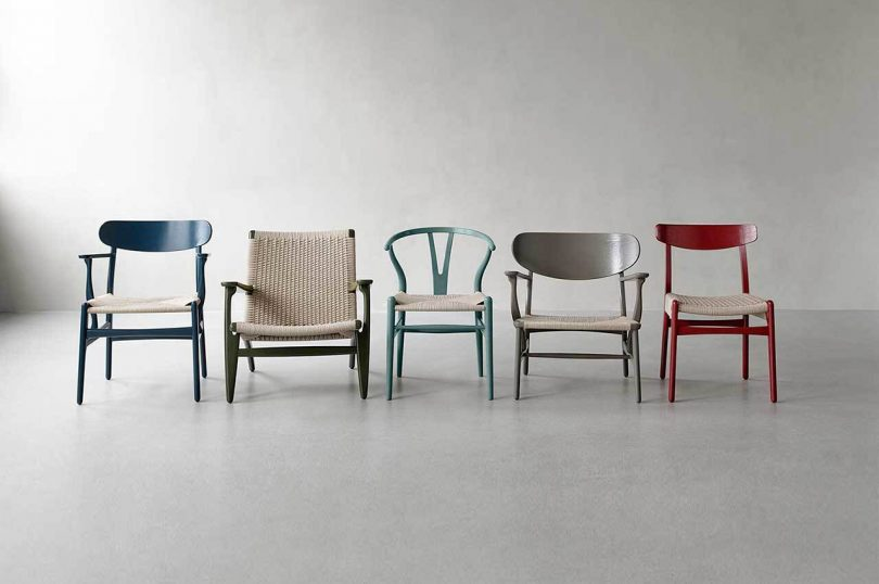 Ilse Crawford Curates a Fresh Palette for 5 of Hans J. Wegner's Iconic Chairs
