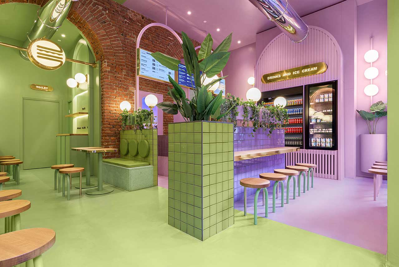 Masquespacio Brings a Contemporary Strategy to Hamburger Chain Bun in Milan