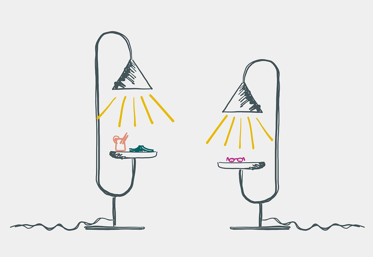 sketch of lamps