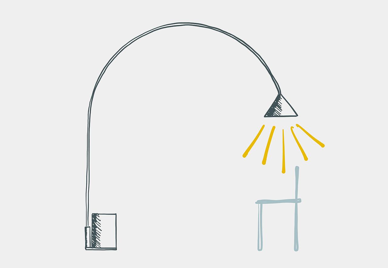 floor lamp sketch
