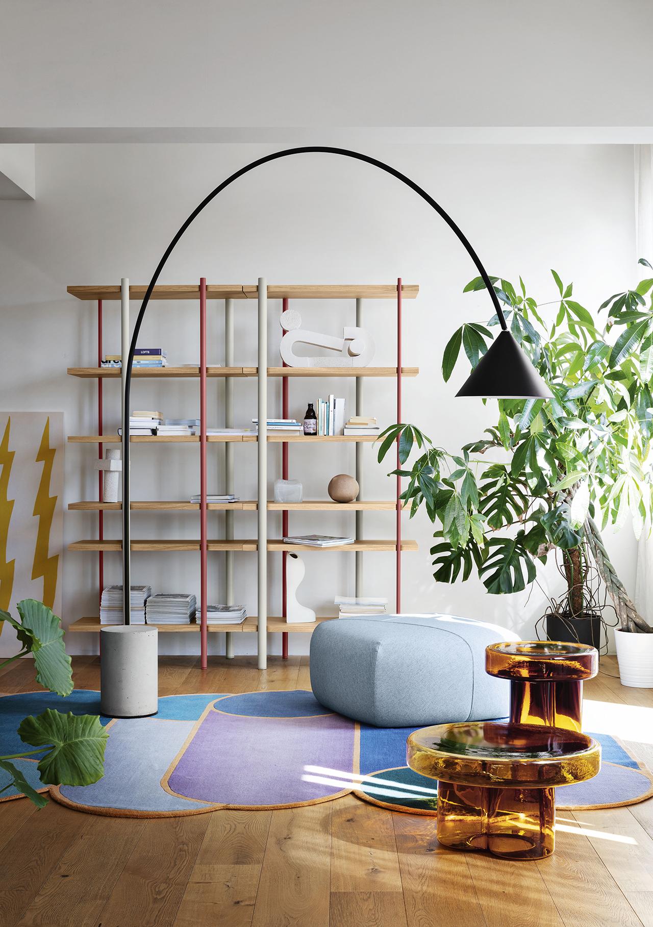 floor lamp in living space