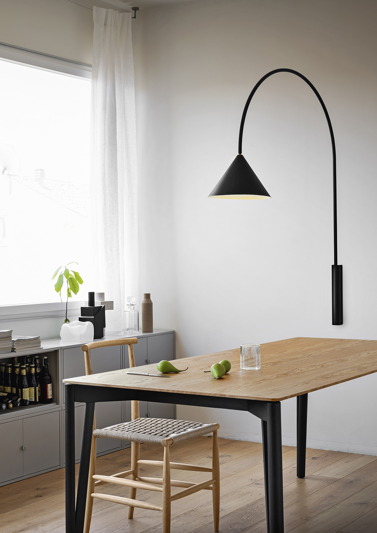 wall lamp in living space