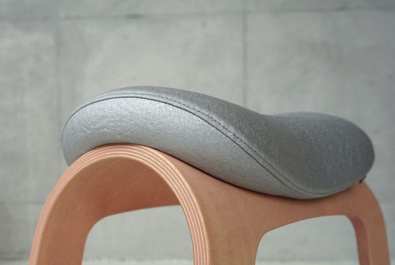 rocking stool detail