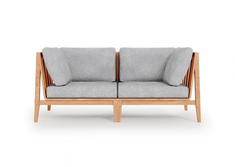 outdoor two seat sofa