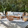 outdoor couch, outdoor chairs