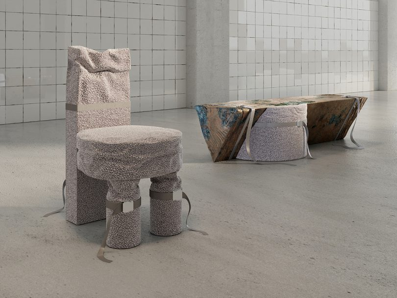 stool and table