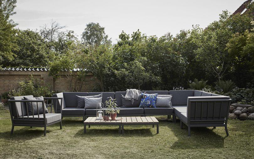 outdoor furniture in yard