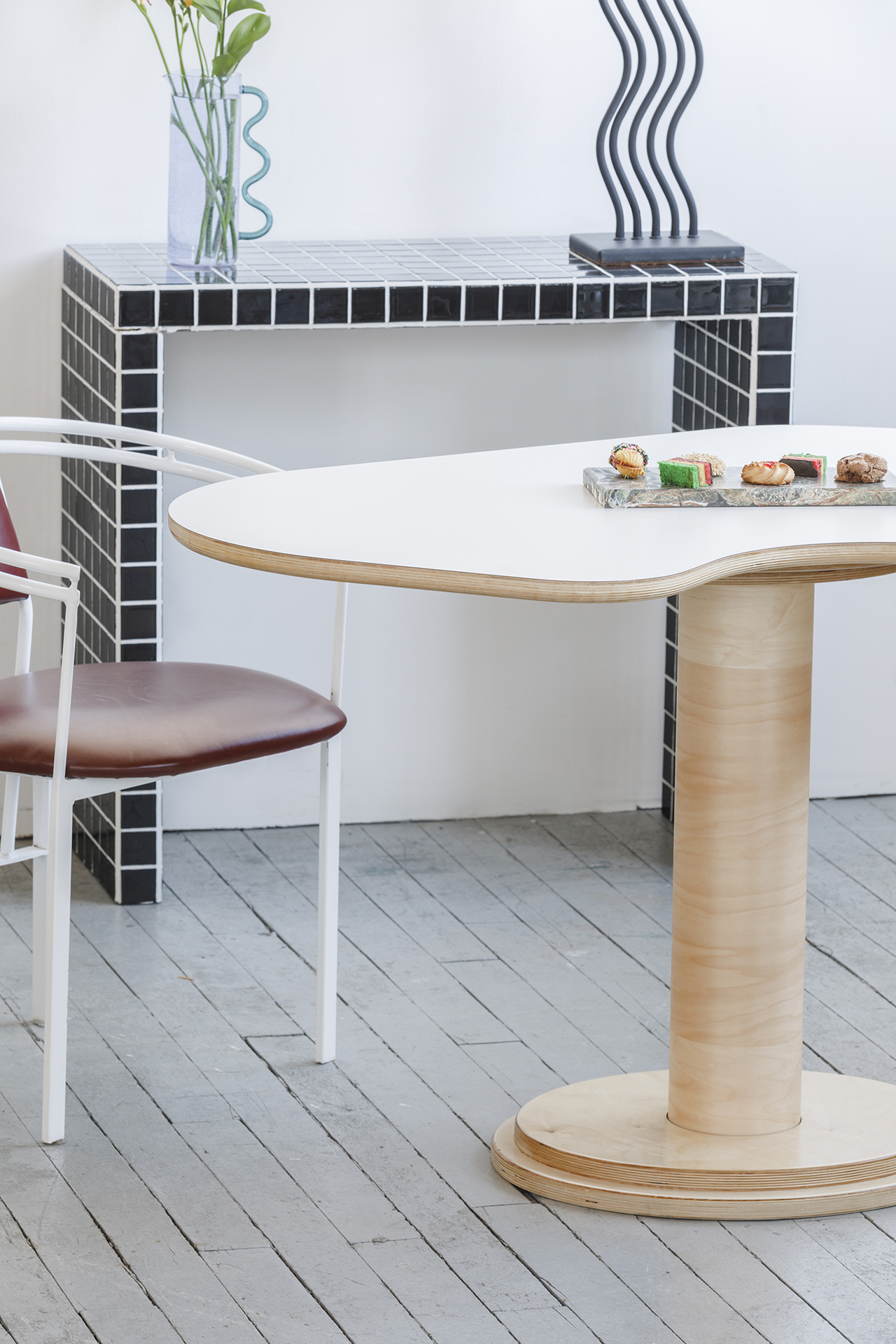 dining table, chair, console