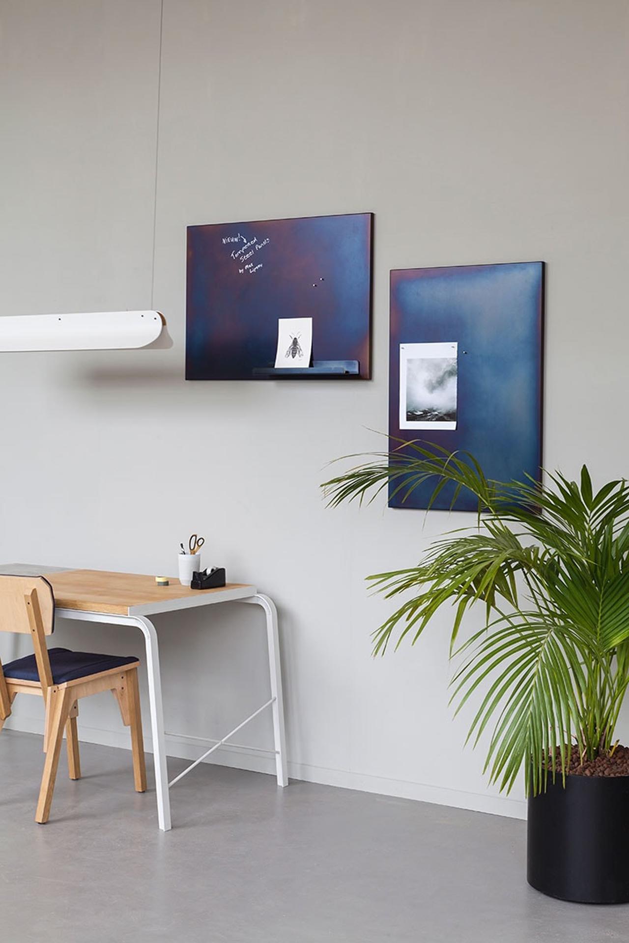 wall shelves and desk