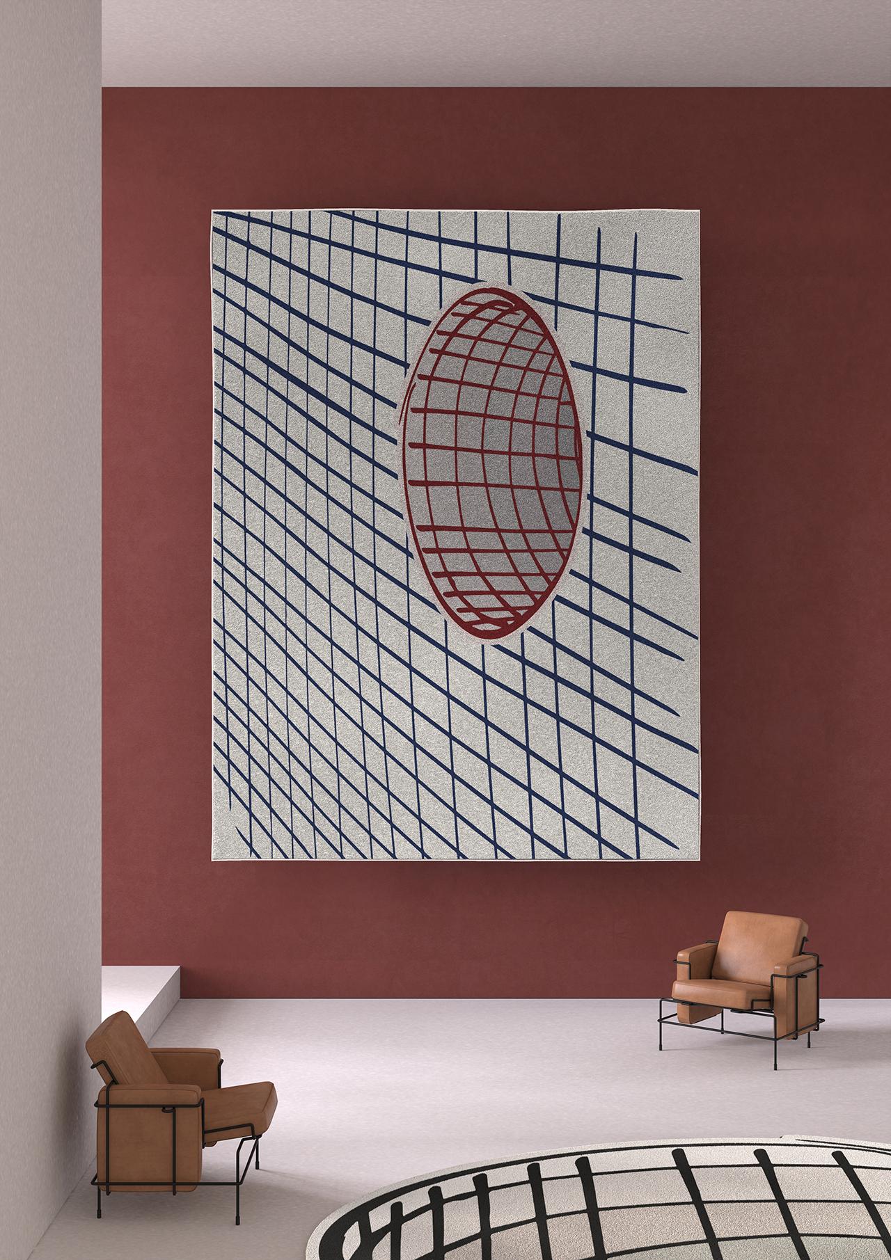 rug hanging on wall