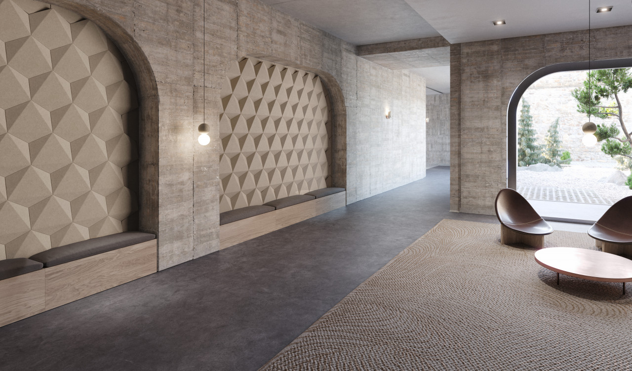 Hex by TURF Design Absorbs Office Sounds With a Dimensional Tile