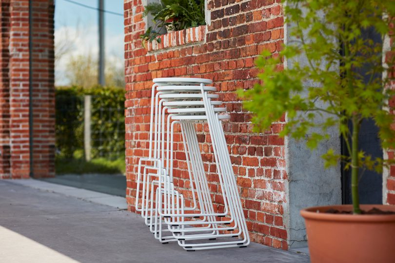 stacked outdoor stools