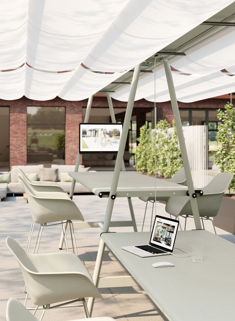 tables and chairs outdoors