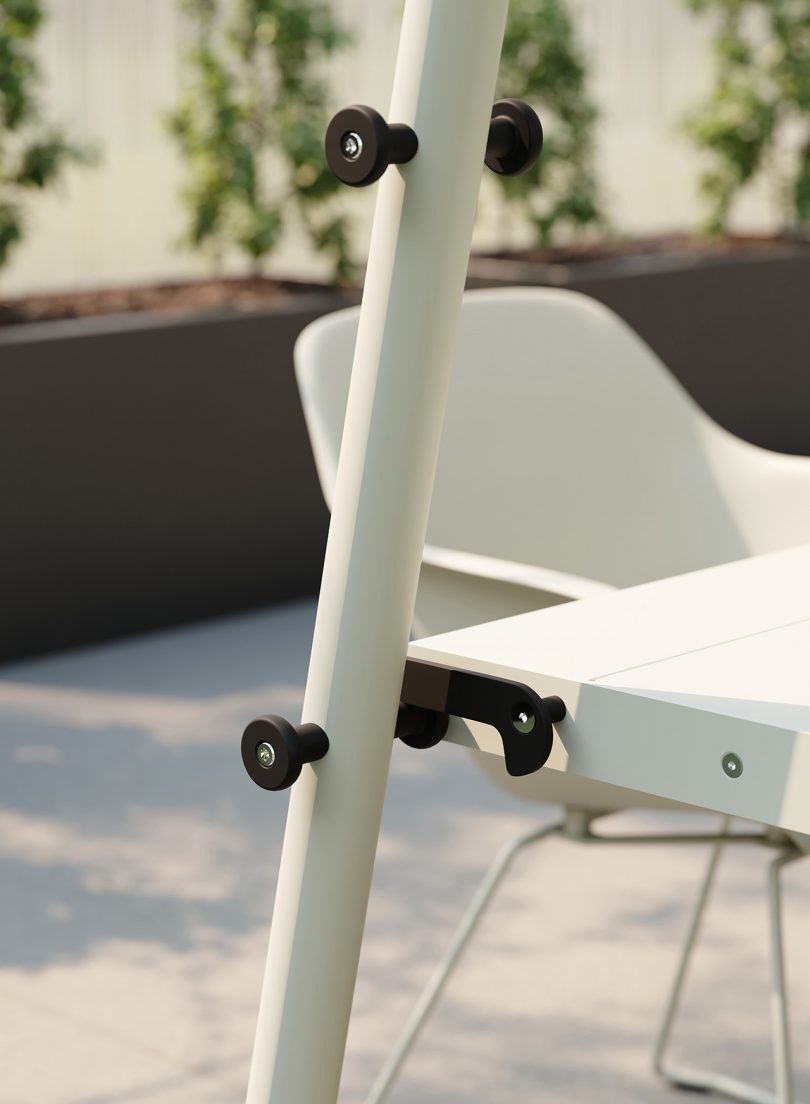 table and chair outdoors