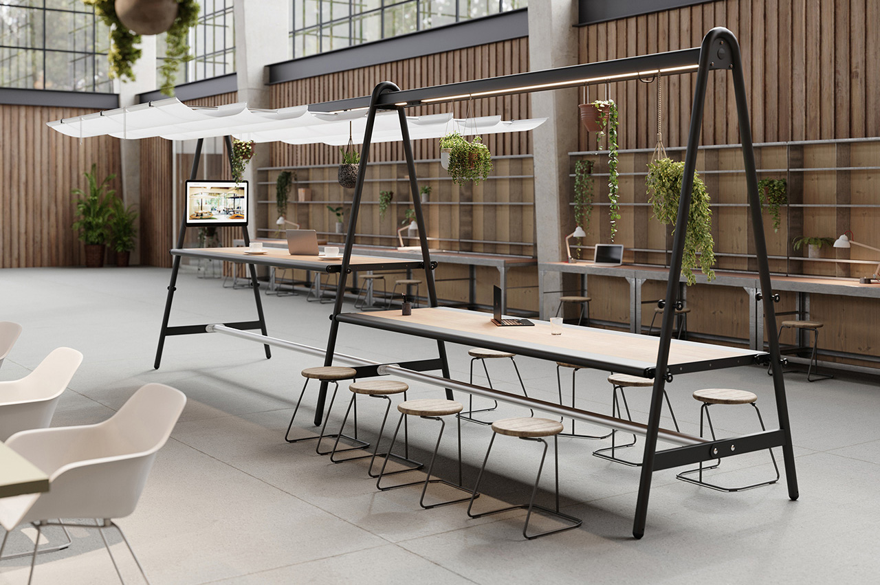AMAi Is a Multifunctional Table Ready To Dress for Any Occassion