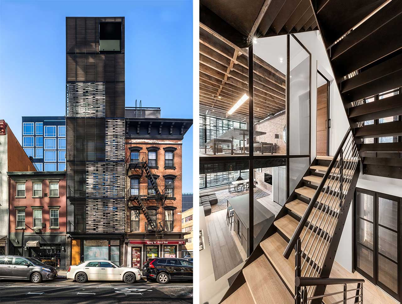 Archi-Tectonics Wraps 8-Story 512GW Townhouse in 3D Envelope in NYC