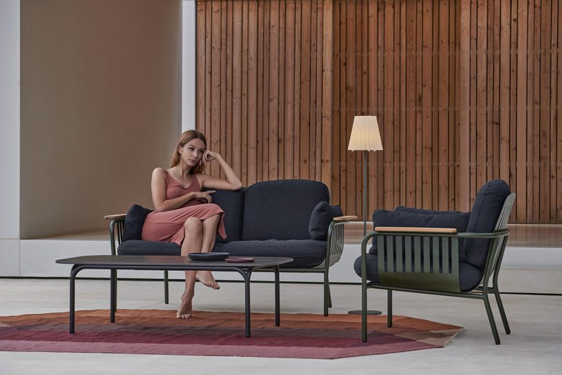 outdoor furniture with model