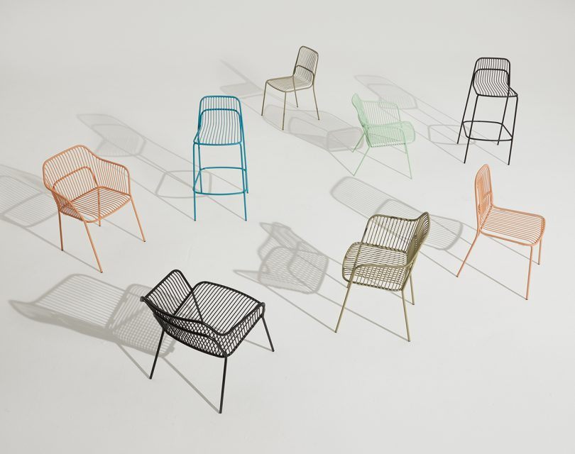 seven outdoor chairs
